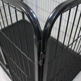 Puppyren Zwart Gecoat 125 x 80 x 90 cm. Enkel deur + Pvc Lade_