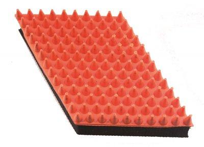 Rubber massageborstel dropvorm, groot