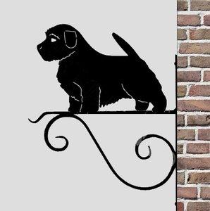 Norfolk terrier planten muurbeugel