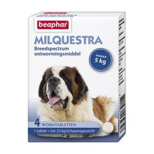 Milquestra wormtabletten hond 4 tabl.