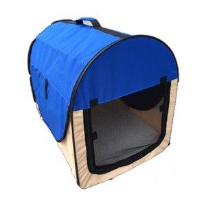 Nylon Hondenbench Camper blauw