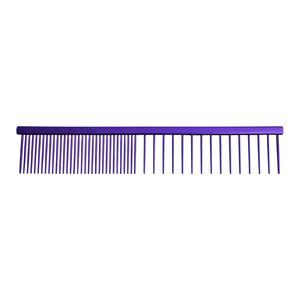 7 1/2 INCH EXTRA COARSE/FINE COMB - PURPLE